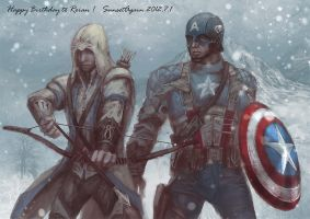 Connor and Captain America by sunsetagain