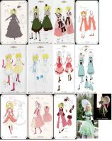 Elizabeth Middleford dresses by saara-sama