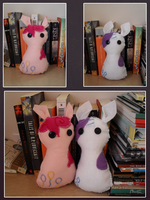 pinkie and rarity dolls by drownedcities