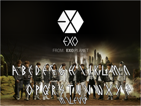 EXO font by Milevip