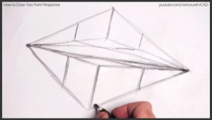 How to draw two point perspective 008 by drawingcourse