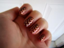 Red and Gold Nail art by Toxic-Muffins-Studio