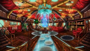 Steampunk TARDIS Interior Console Room by Wonderwig