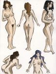Ink and Watercolor Nudes 4 by zacharyknoles