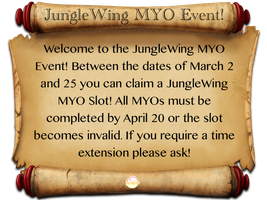 JungleWing MYO Event! by ParadiseIsCancelled