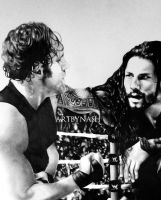Brothers. Roman reigns and Dean ambrose - Pencils by Artbynash