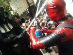 Deadpool vs Darth Vader by Dadethethird