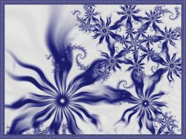 Fractal blue and white porcelain -1 by fengda2870