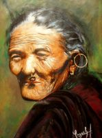 Old nepali woman by YugeshPandey