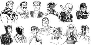 Super Hero faces by Jebriodo