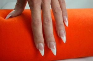 French Stiletto nails by Ambima