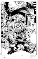 Punisher Christmas 2005 Pencil by MikeDeodatoJr