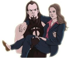 Undertaker and Steph for RipperBlackstaff by AliceSacco