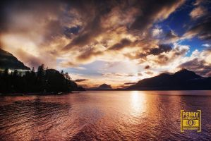 Porteau Cove at Sunset by PenelopeT