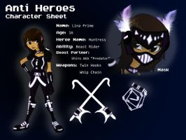 AntiHeroes...Character Sheet 01 by LinaPrime