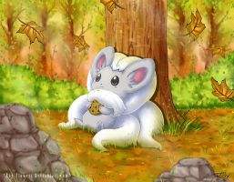 Cinccino -autumn leaves- by Roy-Flowers