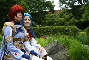 Lord Yuan and Kratos Aurion by SecondHandGefuehl
