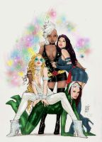 X - Girls by Marc Silvestri [coloured] by shades-of-amber