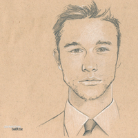 Joseph Gordon-Levitt #Sketchbook by dankershaw