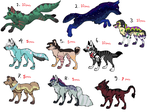 New canine adotables by ginga-wolf97