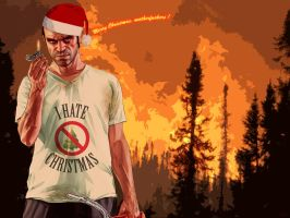 Trevor wishes you a Merry Christmas ! by DlynK