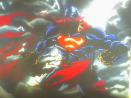 Superman painting by Anothen