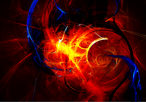 Wallpaper Fractals - orange by Aiseant