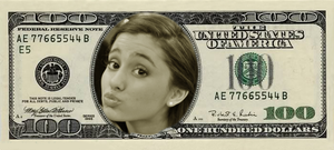 Ariana Grande Dollar Bill by Supremechaos918