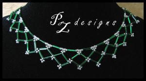 Celtic Lace Necklace by PurlyZig