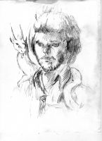 Self Portrait Sketch by Night-Forager