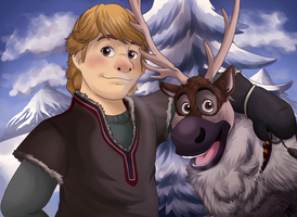 Kristoff and Sven - Frozen by GralMaka