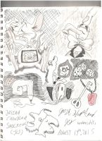 College Sketches I by Josiah-Shockency-JCS