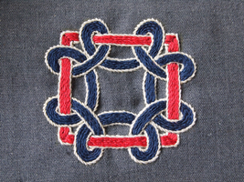 Medieval embroidery - X c. motive, Germany by anitheya