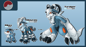 Fakemon: Pseudo-Legendary by glitchgoat
