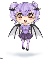 Purple Chibi by LadyNoise