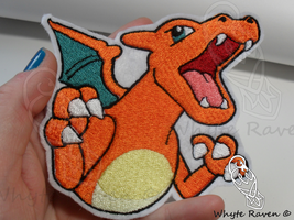 Charizard Trozei Embrodiery Patch by Whyte-Raven