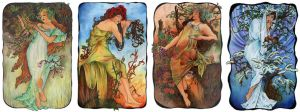 Mucha's seasons by AnnaSulikowska