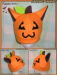 Halloween Pumpkin Kitty Hat by AnimeNomNoms