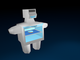 3D robot-oven with pie by mirry92