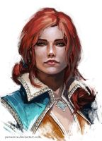 Triss Portrait by YamaOrce