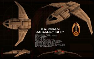 Bajoran Assault Ship ortho by unusualsuspex