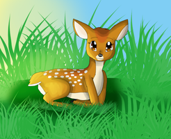 Baby Fawn by KendraTheShinyEevee