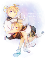 [+speedpaint video] kagamine twins by Rylitah