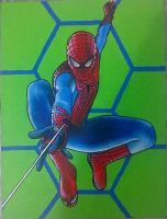 Spider-Man painting - 2012 by andrecamilo20