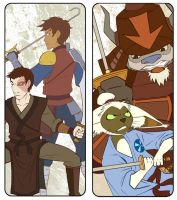 ATLA Bookmarks - Swords by AliWildgoose