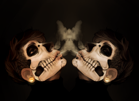 Skull-face Mirrored by EssenceOfEvil