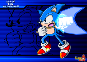 Classic Sonic Battle by Cerberean