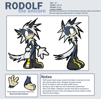 Rodolf the Unicorn Ref by glitchgoat