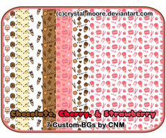 Chocolate, Cherry, and Strawberry BGs by CNM by Crystal-Moore