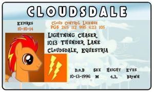 Lightning Chaser Cloudsdale License by Shadowpredator100